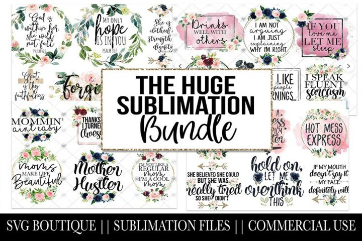 24 Sublimation Downloads - Funny, Religious, Mom Life PNG