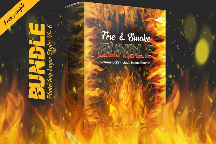 Fire & Smoke Bundle PSD