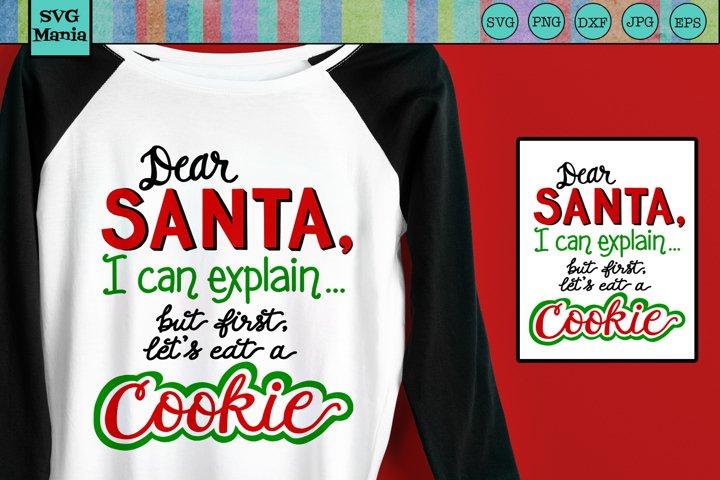 Funny Christmas SVG, I Can Explain SVG, Santas Cookies SVG