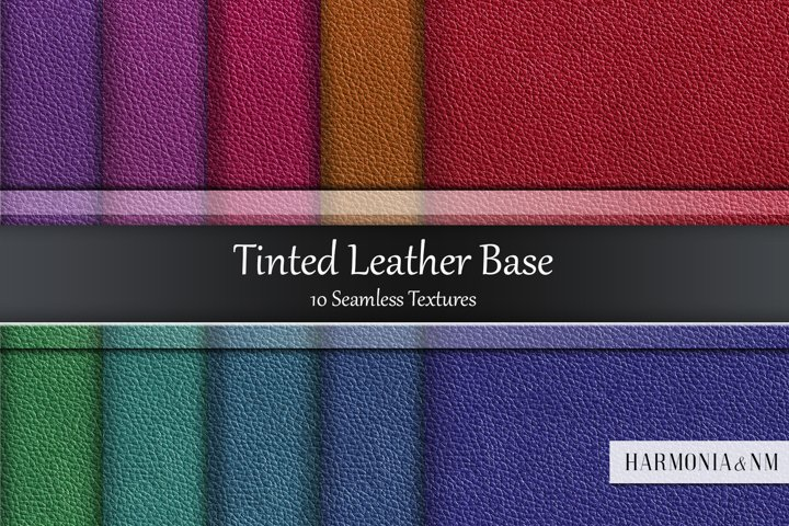 Tinted Leather Base 10 Seamless Textures