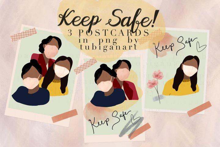 Keep Safe Ready to use postcards