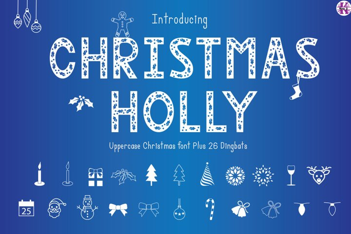 Christmas Holly - Font & Dingbats
