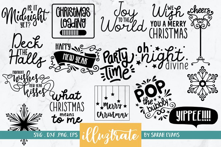 Christmas and New Year Quotes Bundle