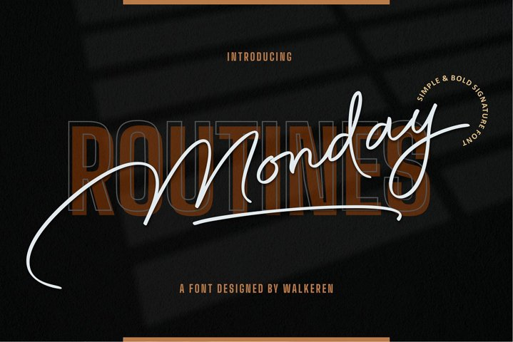 Monday Routines - Signature Font