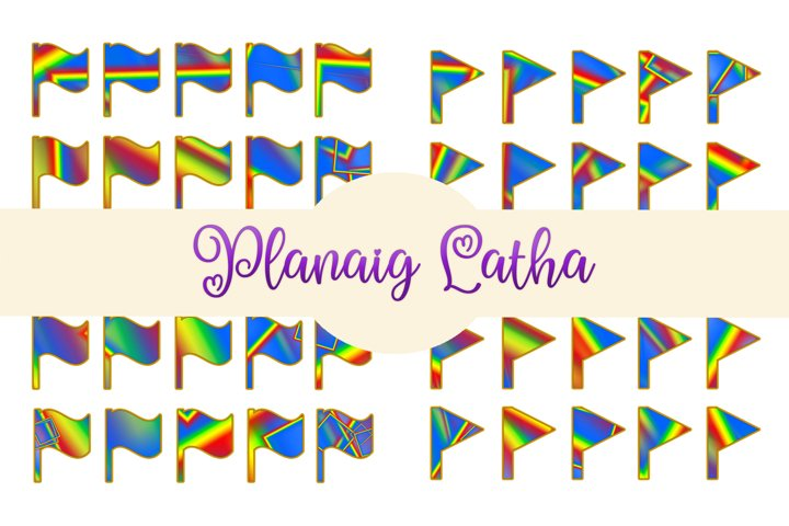 Printable Flag Planner Stickers