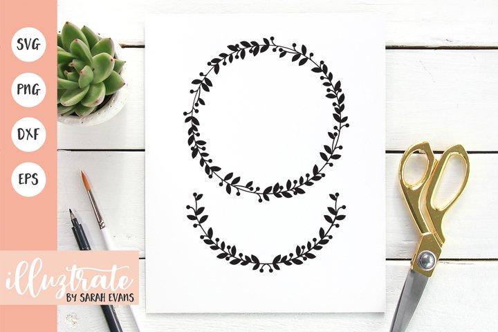 Leafy Wreath SVG Cut File | Wedding Wreath Design
