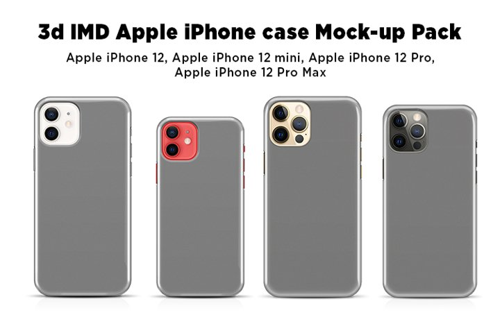 Apple iPhone Case Mock-ups Pack V4