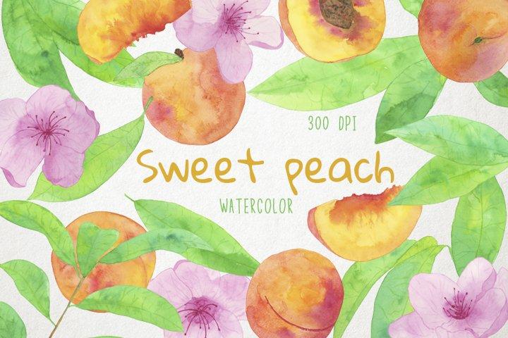 Peach Clipart, Peach Clip Art, Peach Illustration, Peach PNG