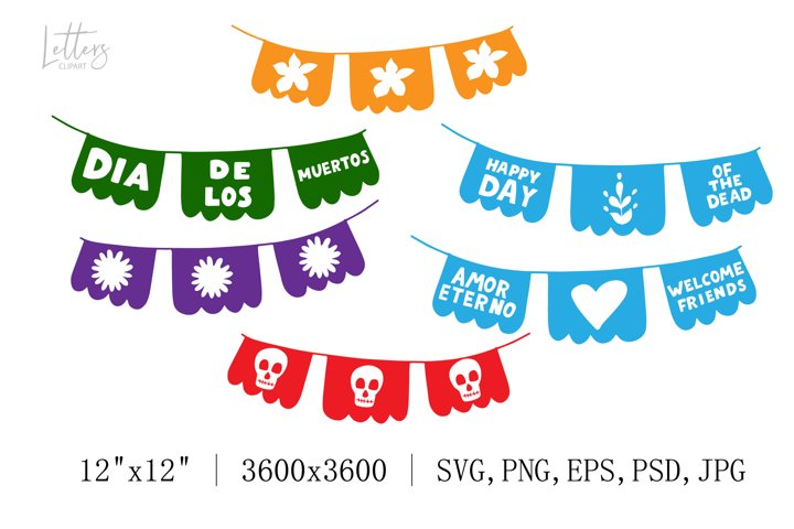 Papel picado svg. Papel picado digital. Custom papel picado.