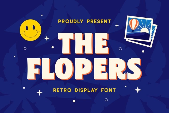 Flopers - Retro Display Font