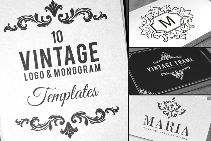 10 Vintage Logo & Monogram Templates