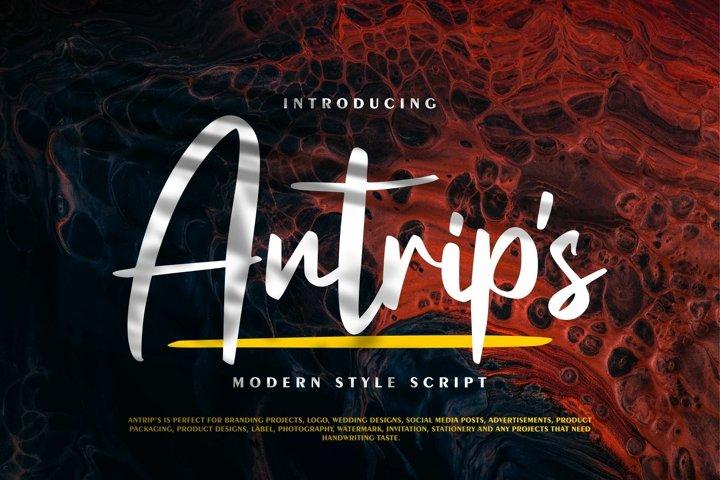 Antrips | Modern Style Script