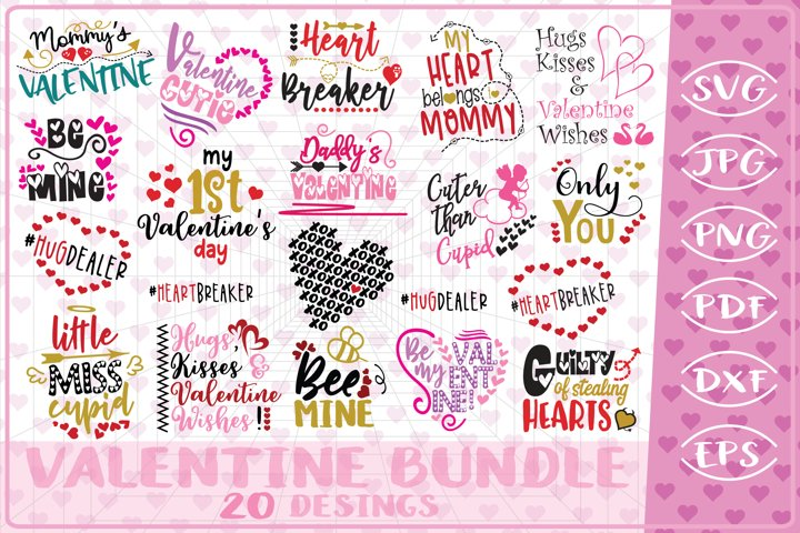 Valentine Bundle 20 Love Quotes Cutting File-Valentines Day