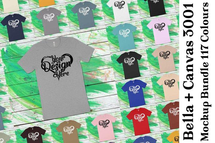 Bella Canvas 3001 T-Shirt Mockup Bundle 436