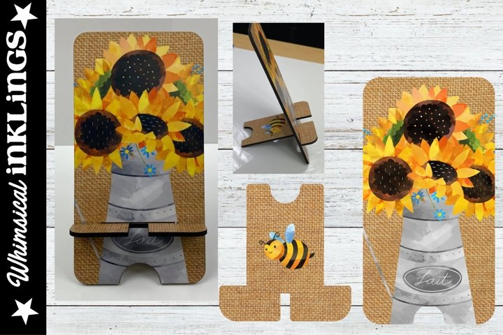 Sunflower Cell Phone Stand Sublimation example