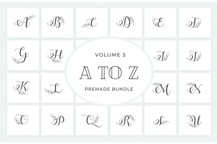 Vol.3 Alphabets Logo Templates