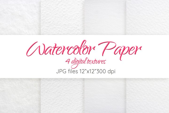 Watercolor paper texture Digital paper Paper background