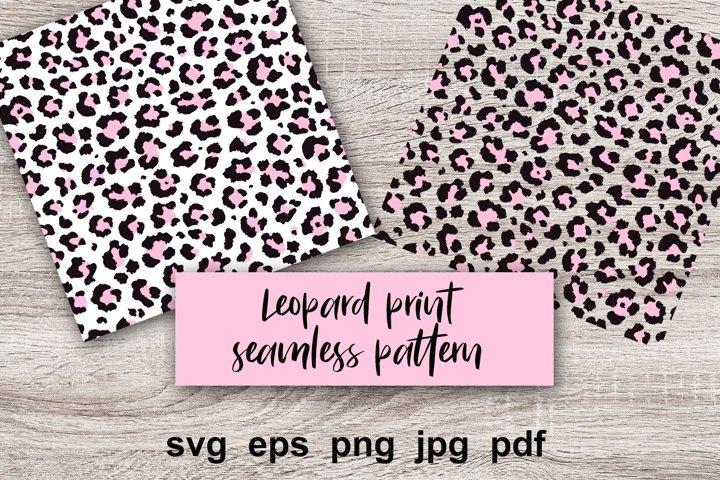 Leopard pink print Digital Paper, seamless pattern