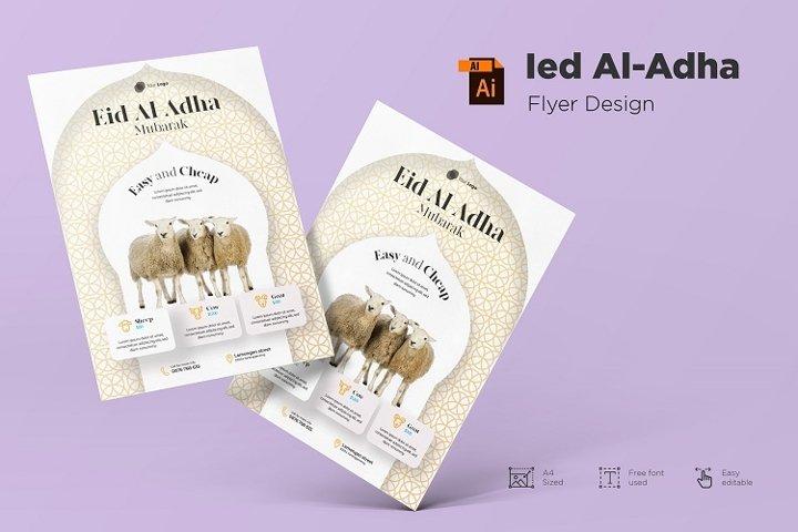 Ied Al-adha Mubarak flyer design