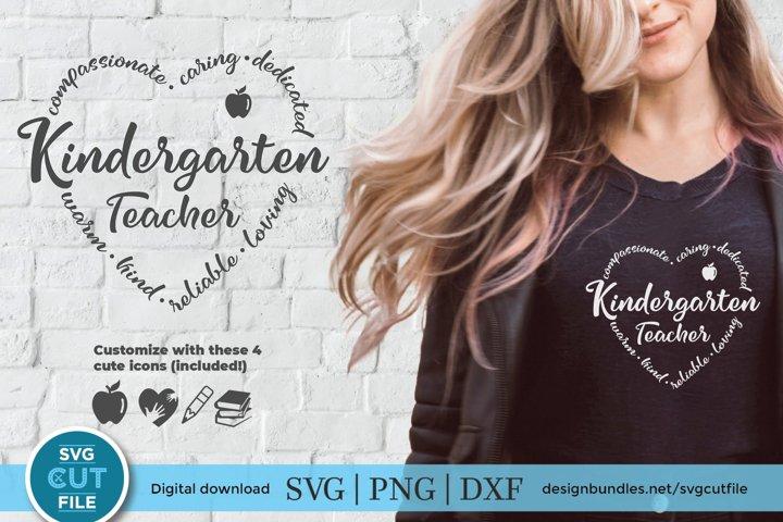 Kindergarten Teacher svg - a kinder teacher kit with icon