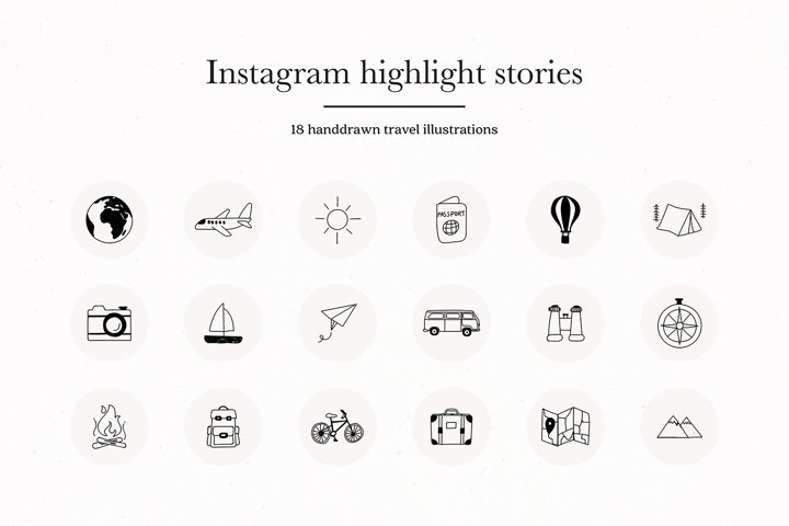 Instagram Travel Highlights Icons Covers