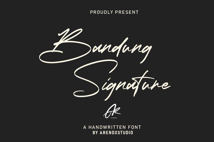 Bandung Signature | Modern Font