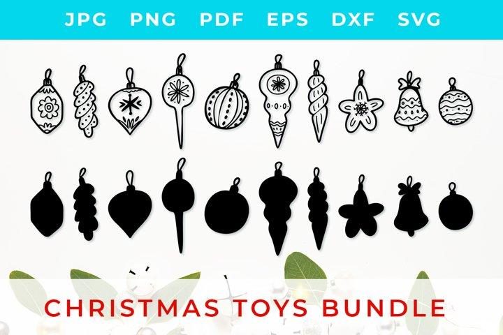 Christmas Toys BUNDLE Svg, clip-art,silhouettes SVG Cut File