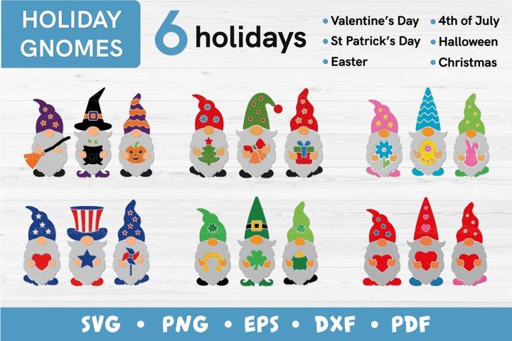Holiday Gnomes Bundle SVG - 6 designs
