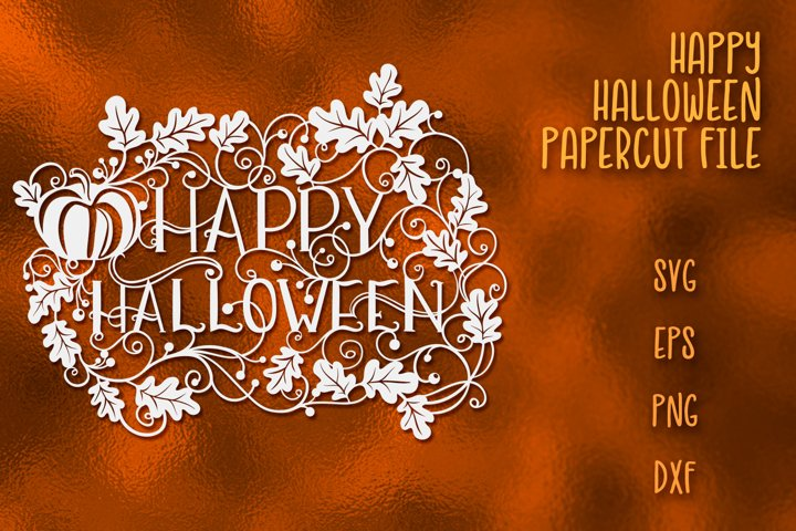 Happy Halloween SVG Papercut File - Free Design of The Week Font