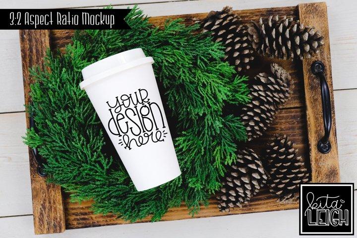 To Go Coffee Pinecone Christmas and Fall Mockup