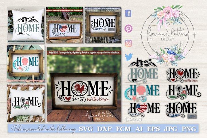 Home Bundle of 6 SVG Cut Files LL262