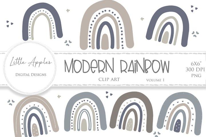 Modern Rainbow Clipart
