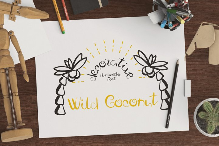 Fresh Wild Coconut decorative FONT