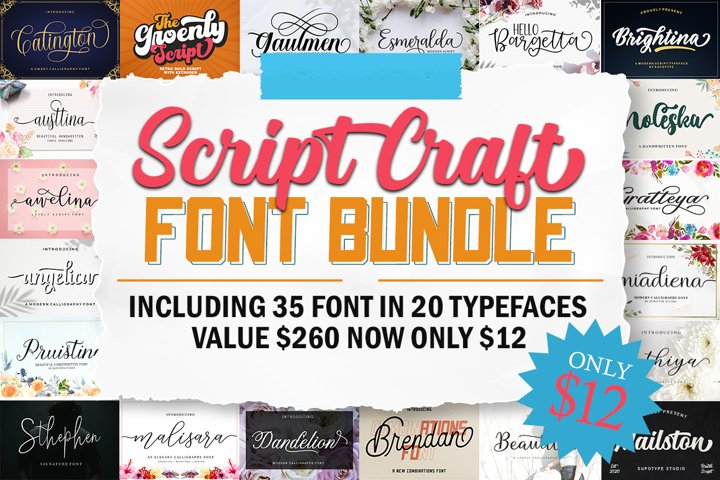 Script Craft Font Bundle