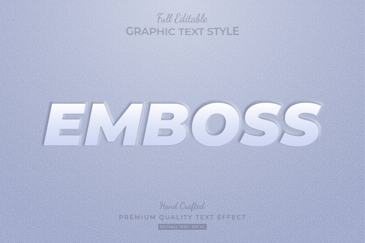 Emboss Clean Editable Text Style Effect Premium