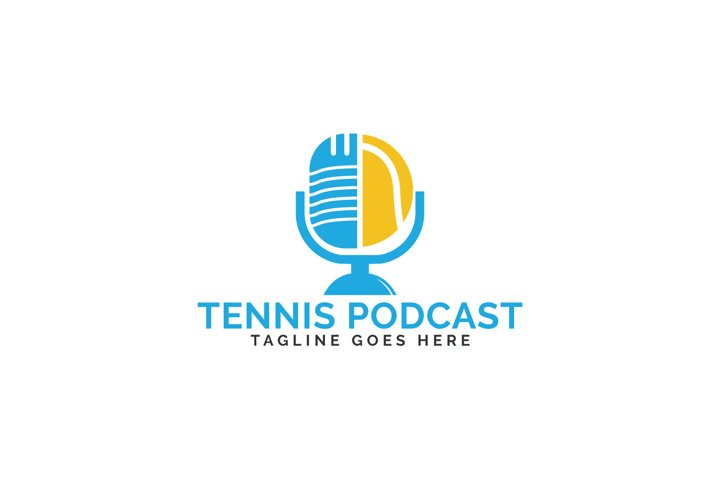 Tennis Podcast Logo Design.