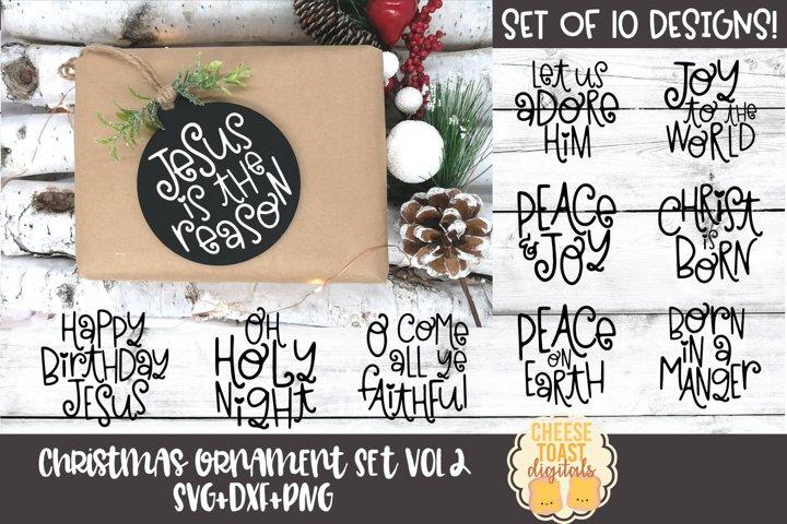 Christmas Ornament Bundle Vol 2   Christmas SVG for Rounds