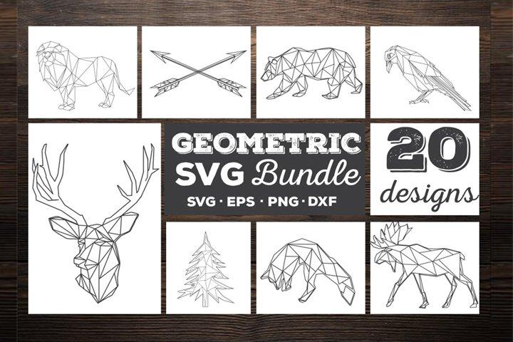 Geometric animals SVG Bundle 20 designs SVG vol 1