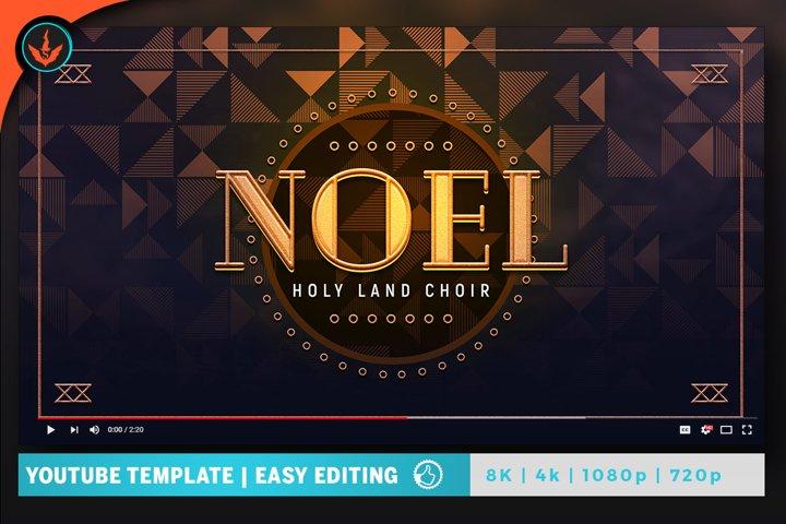 Gold Gala Video Artwork Template