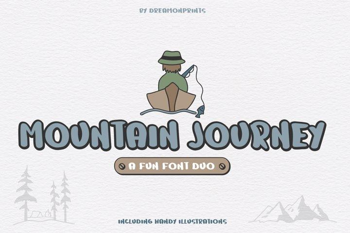 Web Font Mountain Journey - a Fun Font Duo