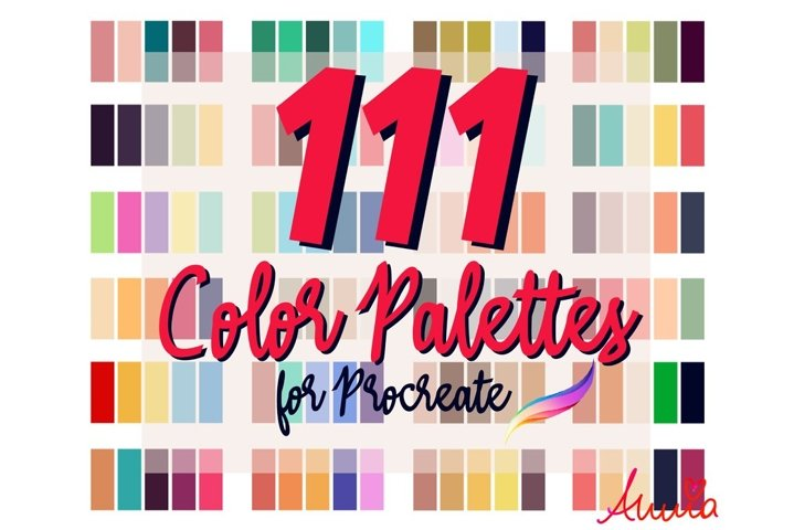 111 Color Palettes for Procreate 5/5x