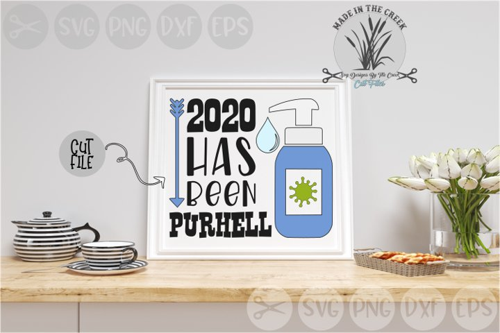 2020 Has Been Pure Hell, Sanitize, Germs, Cut File SVG