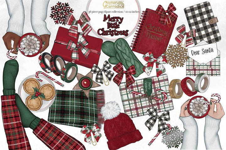 Merry Little Christmas - planner clipart collection