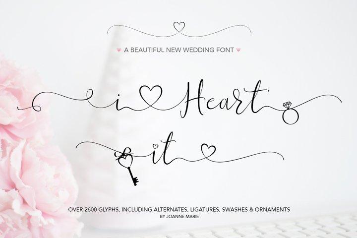 iHeart it wedding font