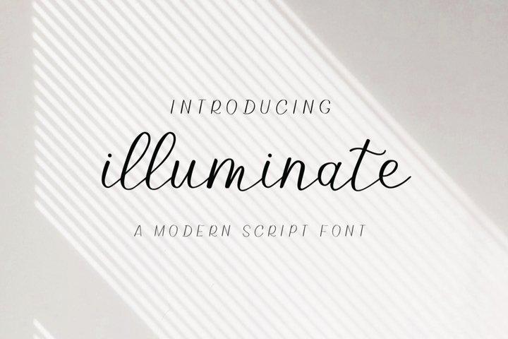 Illuminate - An Elegant and Modern Script Font