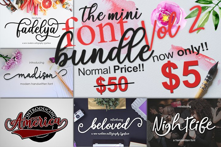The Mini Font Bundle Vol 2
