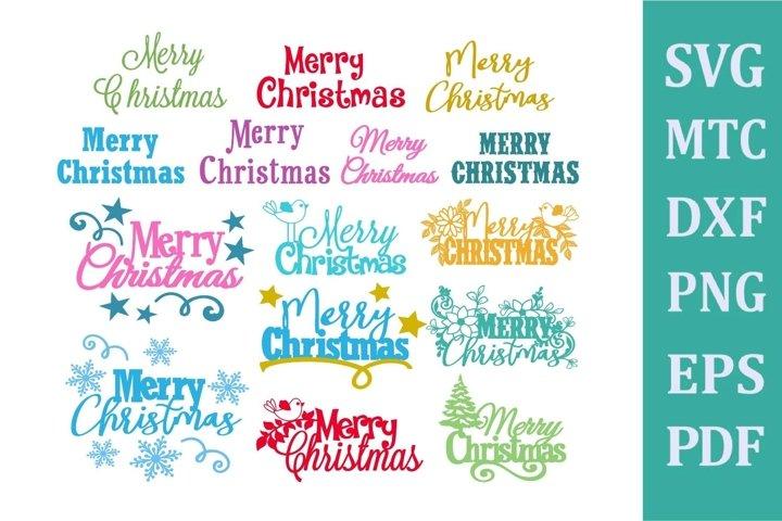 Merry Christmas SVG Cut File BIG Card Making Bundle