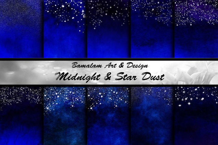 Blue & Silver Star Dust Backgrounds