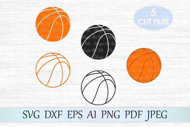 Basketball svg, Basketball cut file, Basketball silhouette