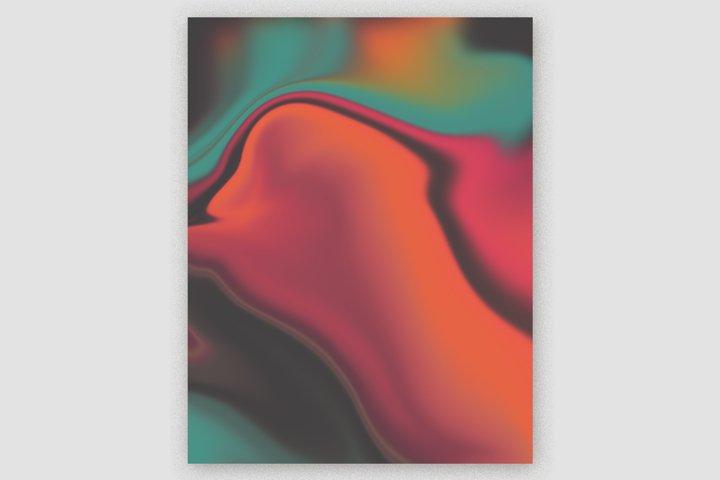 Gradient Marble Art Digital Paper #07